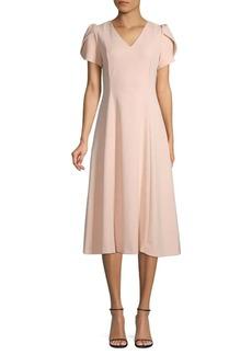 Calvin Klein Tulip-Sleeve Knee-Length Dress