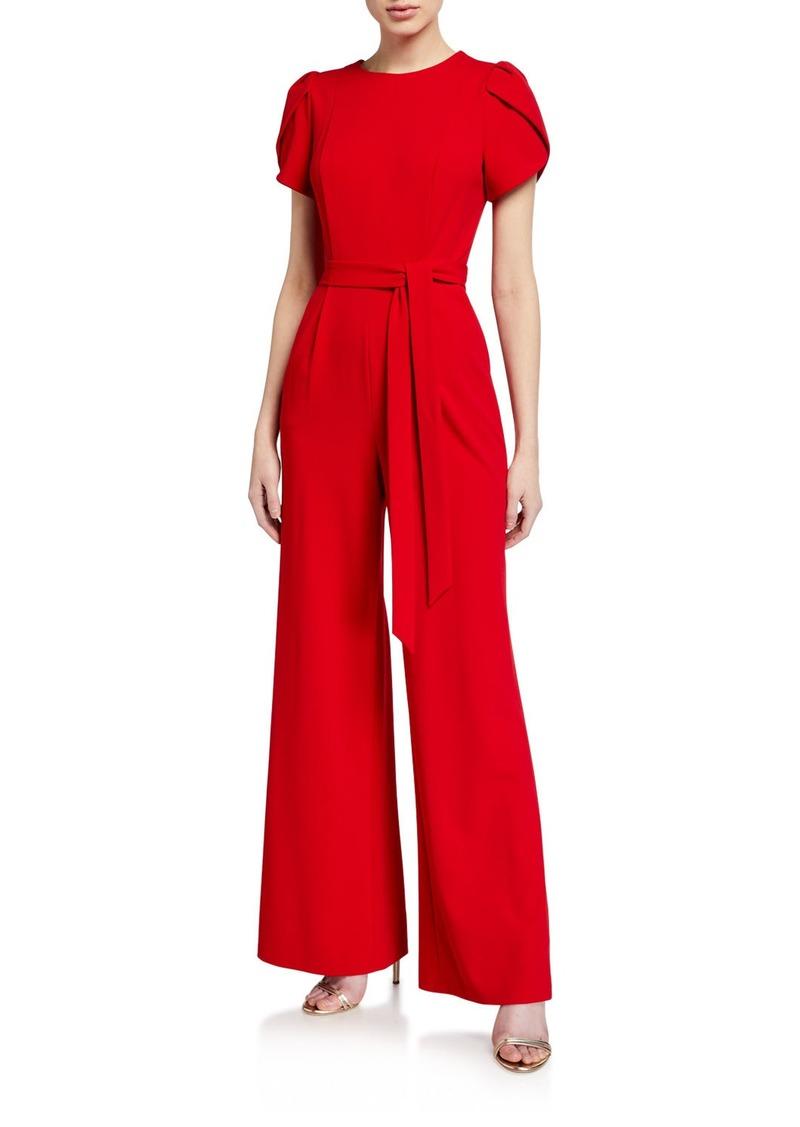 Calvin Klein Tulip-Sleeve Wide-Leg Jumpsuit
