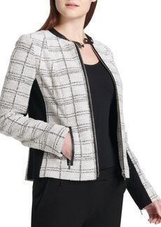Calvin Klein Tweed Center Zip Jacket