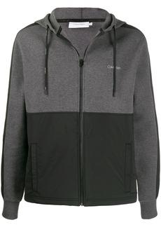 Calvin Klein two-tone zip-up hoodie