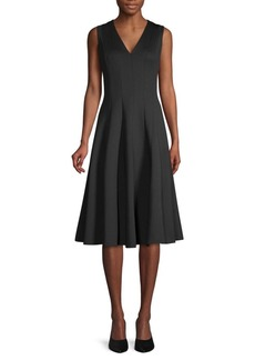 Calvin Klein V-Neck A-Line Dress