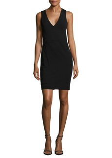 Calvin Klein V-Neck Solid Dress