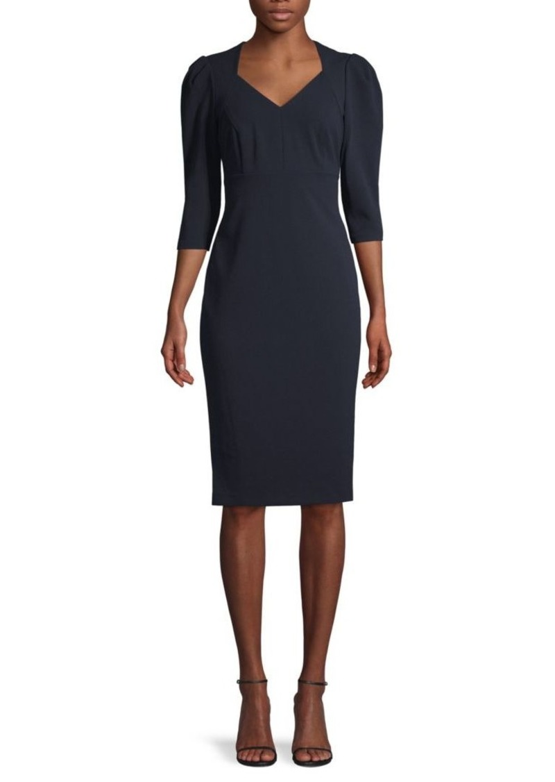 Calvin Klein V-Neck Stretch Sheath Dress