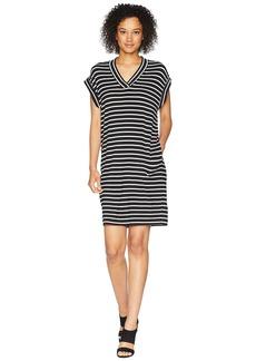 Calvin Klein V-Neck Stripe Dress
