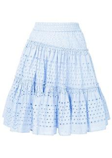 Calvin Klein varied gingham skirt