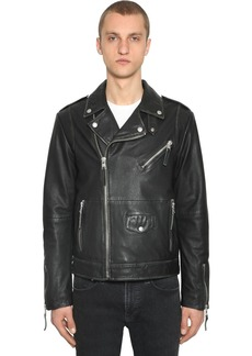 Calvin Klein Vintage Leather Biker Jacket