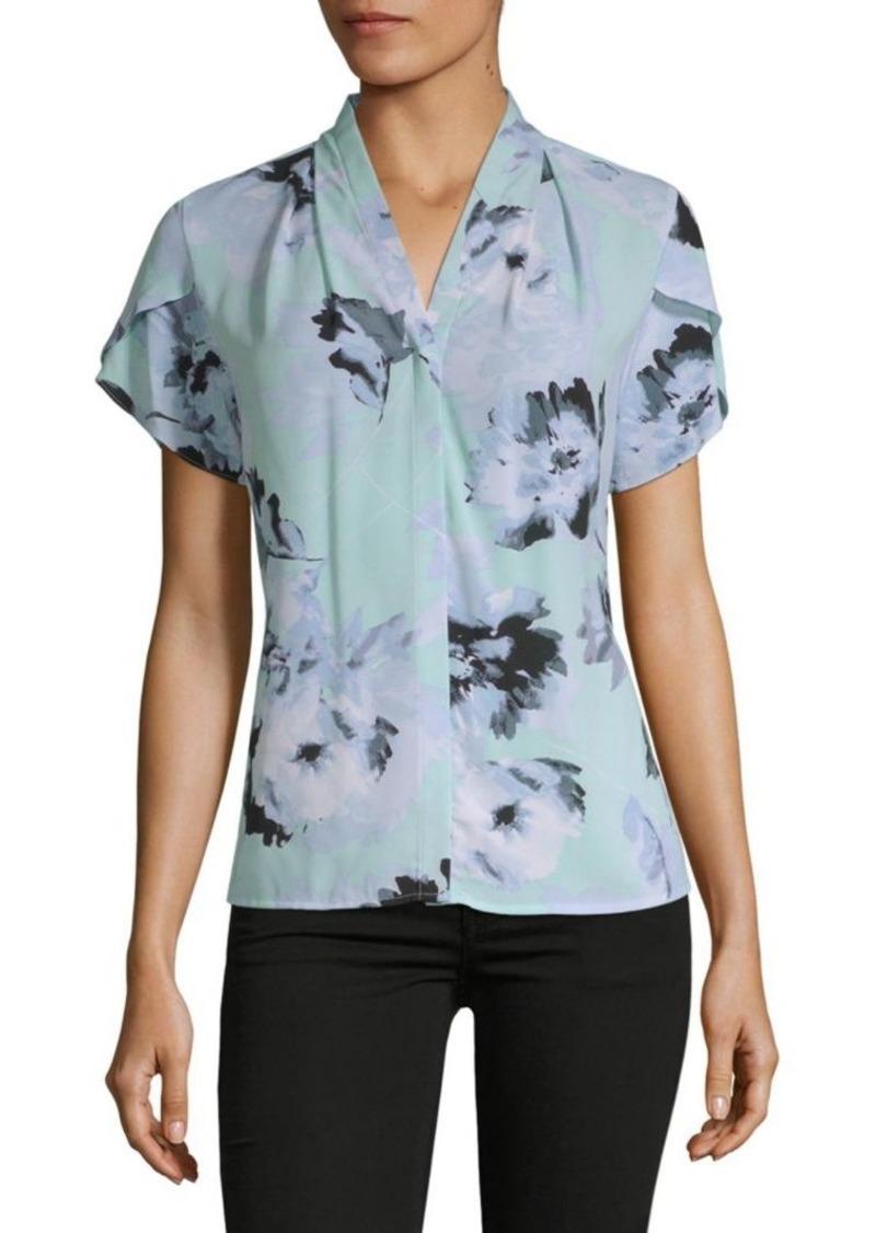 Calvin Klein Watercolor Short-Sleeve Top