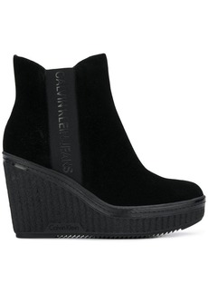 Calvin Klein wedge ankle boots