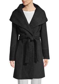 Calvin Klein Wide-Lapel Wrap Coat