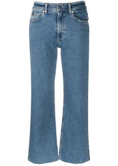 Calvin Klein wide-leg cropped jeans