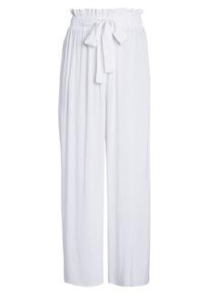 Calvin Klein Wide-Leg Paperbag Pants