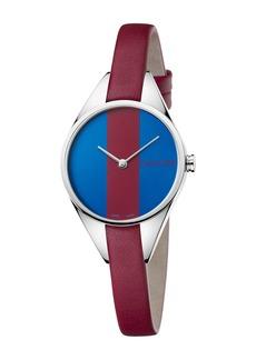 Calvin Klein Women's Achieve Rebel Leather Band Watch, 29mm