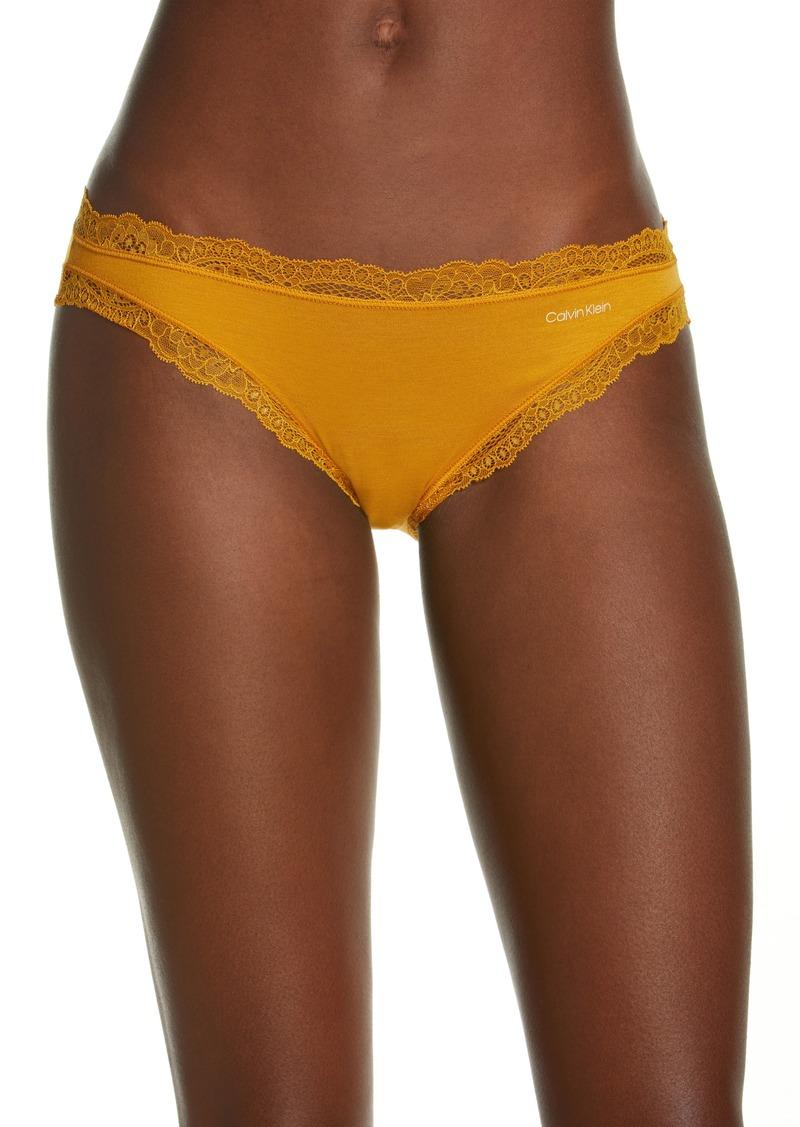 Calvin Klein Lace Trim Stretch Modal Bikini
