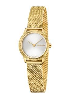 Calvin Klein Women's Minimal Mesh Bracelet Watch, 24mm