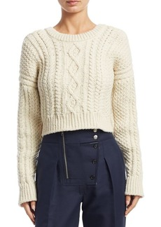 Calvin Klein Wool-Blend Cable Knit Sweater