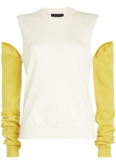 Calvin Klein Wool Turtleneck Pullover with Detachable Sleeves