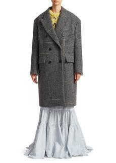 Calvin Klein Wool Tweed Coat
