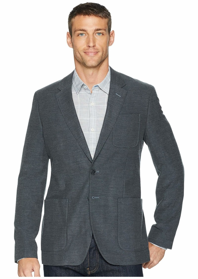 Calvin Klein Wool Twill Patch Pocket Blazer