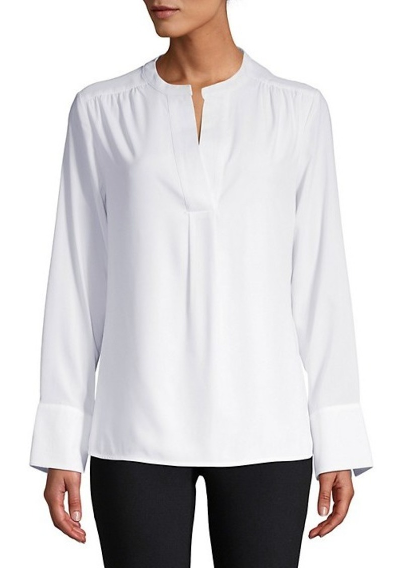 Calvin Klein Woven Long-Sleeve Top