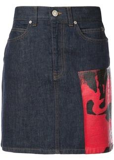 Calvin Klein x Andy Warhol Foundation Dennis Hopper denim skirt