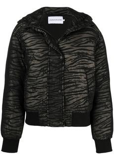 Calvin Klein zebra mesh puffer coat