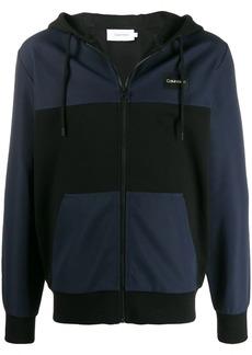 Calvin Klein zip front logo hoodie