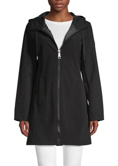 Calvin Klein Zip-Up Hooded Coat