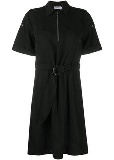 Calvin Klein zipped belted shirt dress