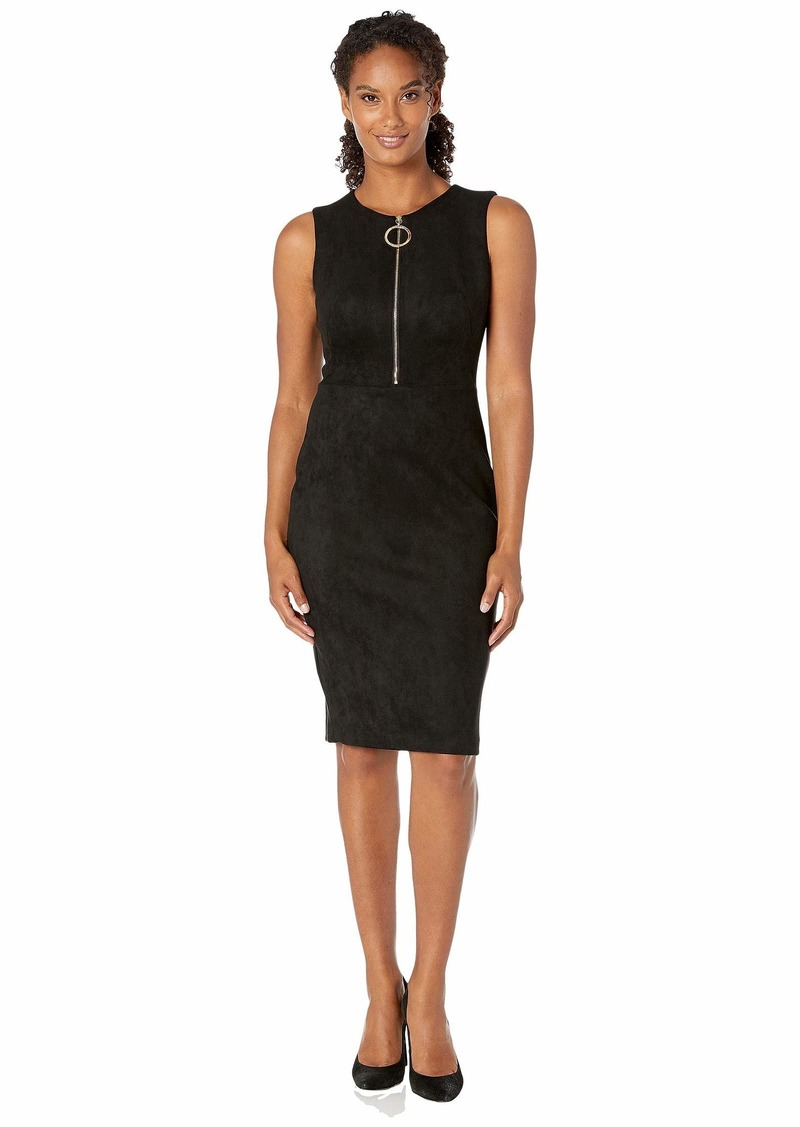 Calvin Klein Zipper Front Sheath Dress