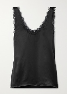 Cami NYC Britney Lace-trimmed Silk-charmeuse Tank