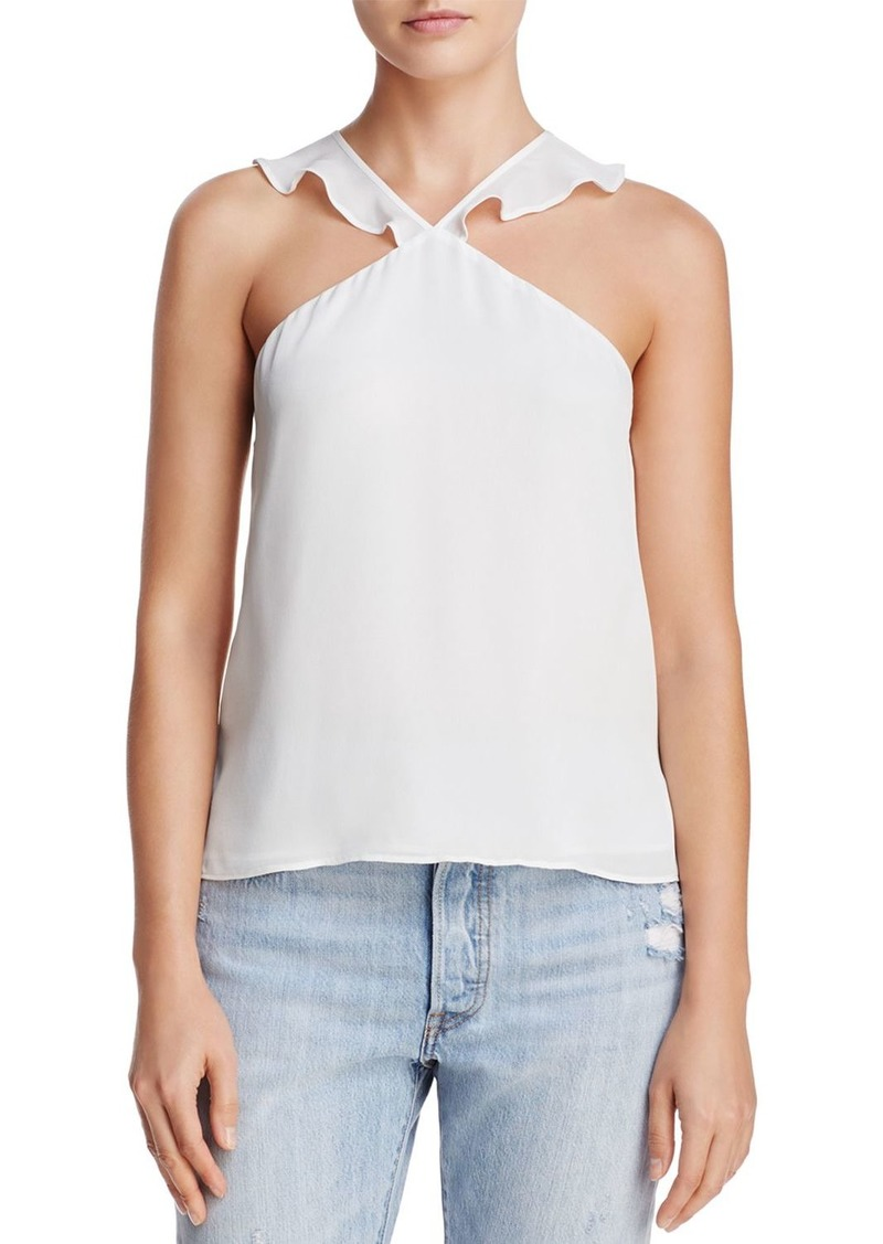 CAMI NYC Lily Ruffled-Strap Silk Top