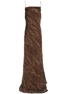 Cami Nyc Woman The Carla Leopard-print Silk-chiffon Maxi Dress Animal Print