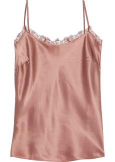 Cami Nyc Woman The Fynn Lace-trimmed Silk-satin Camisole Antique Rose