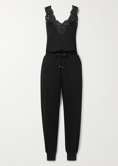 Cami NYC Janet Lace-trimmed Cotton And Modal-blend Jumpsuit