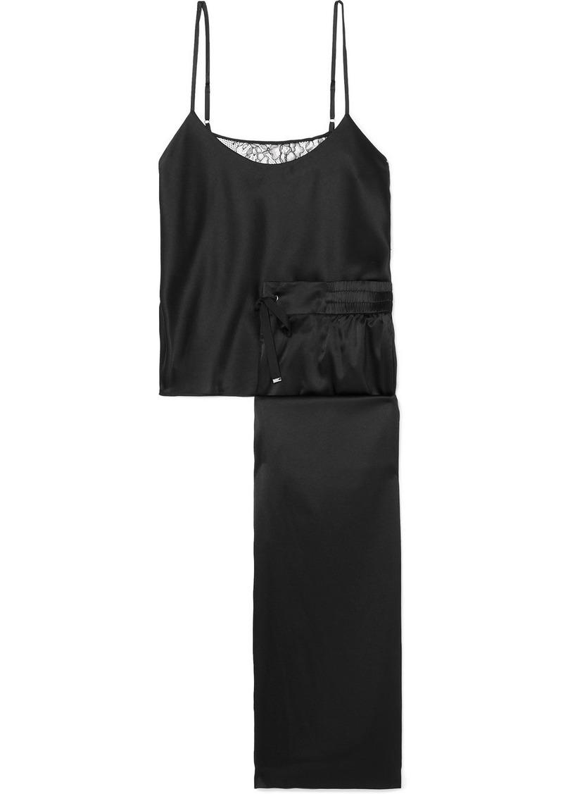Cami NYC Nalia Lace-paneled Silk-blend Charmeuse Pajama Set
