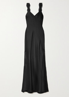 Cami NYC The Christine Lace-trimmed Silk-charmeuse Maxi Dress