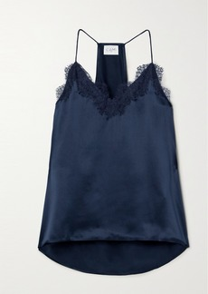 Cami NYC The Racer Lace-trimmed Silk-charmeuse Camisole
