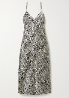 Cami NYC The Raven Zebra-print Silk-charmeuse Midi Dress