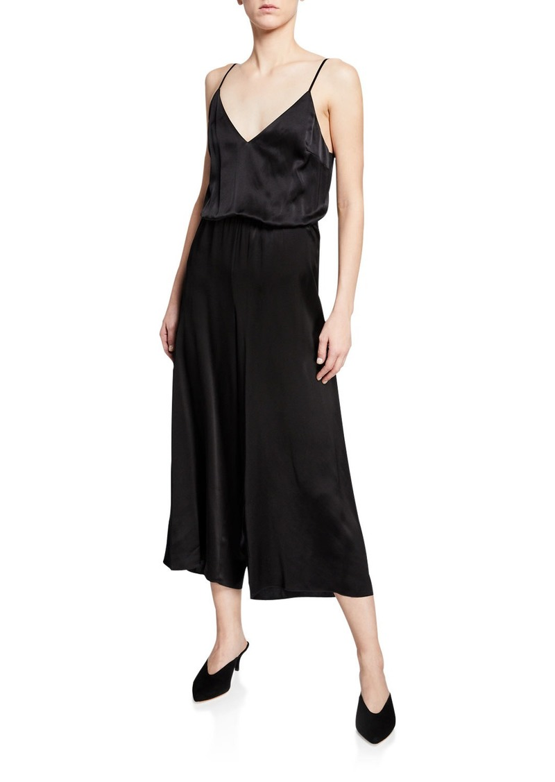Cami NYC The Shilo Silk Tie-Back Cropped Jumpsuit