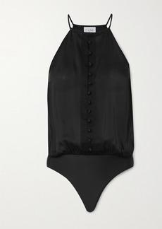 Cami NYC The Trina Silk-chiffon Thong Bodysuit