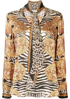 Camilla abstract-print silk blouse