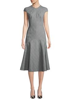 Camilla and Marc Ackley Harvey Check Cap-Sleeve Midi Dress
