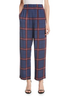 Camilla and Marc Alaine Pull-On Trousers in Plaid