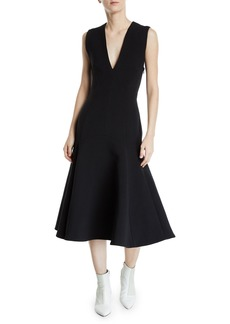 Camilla and Marc Ames V-Neck Sleeveless Crossed-Back Dress
