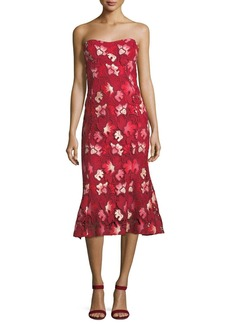 CAMILLA AND MARC Aerie Floral Midi Cocktail Dress