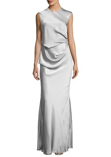CAMILLA AND MARC Grazia Draped Sleeveless Evening Gown