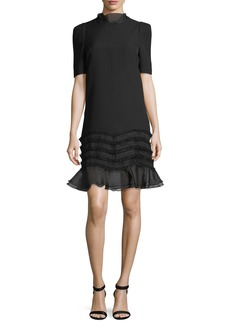 Camilla and Marc Melody Ruffle Trim Short-Sleeve Mini Dress