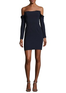 CAMILLA AND MARC Munroe Ponte Off-the-Shoulder Mini Cocktail Dress