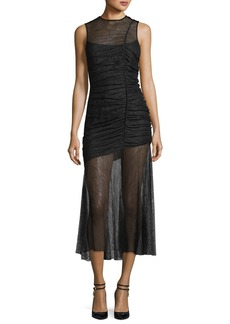 CAMILLA AND MARC Plaza Lace Sheer Ruched Gown
