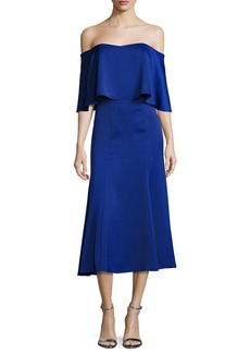CAMILLA AND MARC Ruffle Fit and Flare Cocktail Dress